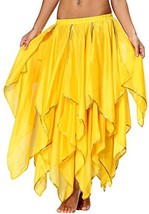 Sequin Yellow Skirt Fairy Belly Dancing Costume for Women Ladies 2 4 6 8... - $28.33