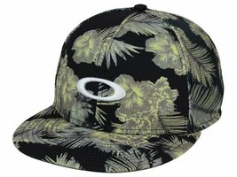 Oakley Sublimated Floral Meshback Flat Bill Snapback Cap Hat - $20.85