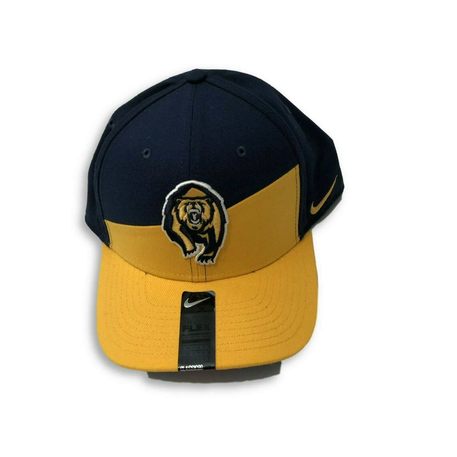 NWT New Cal Golden Bears Nike Dri-Fit Classic99 Verbiage Flex-Fit Hat