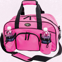 """Womans Ladies 18"""" Sport Duffle Gym Bag Pink Tote Carry On Overnight Yoga... - $24.99"""
