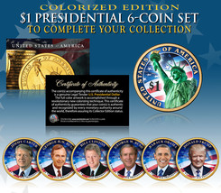 LIVING PRESIDENTS w/ TRUMP 2016 Presidential Dollars 6-COIN SET 2-Sided ... - $29.65