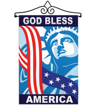 God Bless America - Applique Decorative Metal Wall Hanger Garden Flag Se... - $29.97