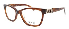GUESS GU2492 052 Women's Eyeglasses Frames 52-16-135 Dark Havana Brown + CASE - $64.15