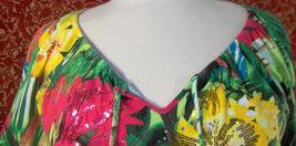 THOMAS & OLIVIA stretch cotton floral short sleeve tunic blouse PL (T2503C8G) image 3
