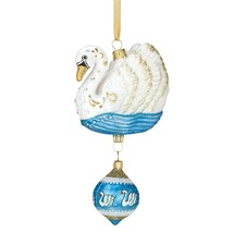 Reed & Barton 7 Swans A Swimming Glass Ornament Seven 12 Days Of Christm... - $237.60
