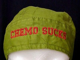 Red Chemo Sucks Chemo Headcover Army Green Hat Durag Cotton Unisex One S... - $15.49