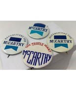 McCarthy Pinback Button Lot Of 4 People Want Republicans For Vintage 18-... - $13.64