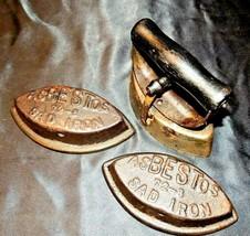2 Asbestos Sad Irons AA20-7367HH Antique - $69.95