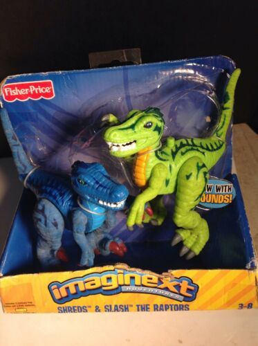 Primary image for Imaginext Fisher Price The Raptors Dinosaurs Shreds & Slash With Sound 2004
