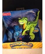 Imaginext Fisher Price The Raptors Dinosaurs Shreds & Slash With Sound 2004 - $14.85