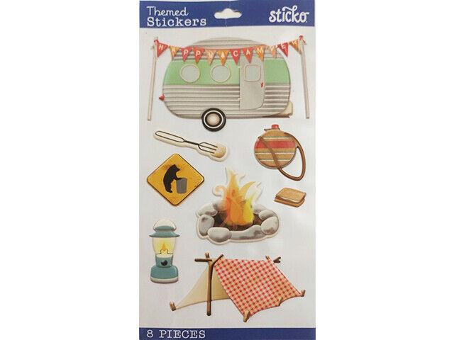 Sticko Happy Camper Puffy Stickers #52-38343