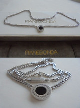 PIANEGONDA Italy heavy NECKLACE in sterling SILVER 925 with pendent Orig... - $99.00