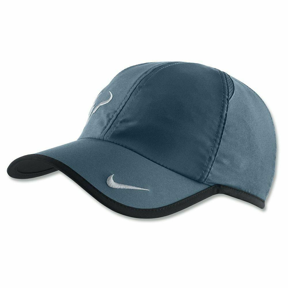NEW! NIKE Nada Bull Adult DRI-FIT FEATHERLIGHT Tennis Hat-Midnight Turquoise