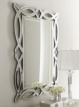 Horchow Figure 8 French Modern Geometric Wall Vanity Fireplace Foyer Mirror - $363.00