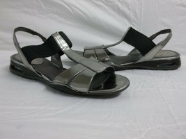 Cole Haan Size 9.5 M Air Bria Silver Leather Sandals New Womens Shoes NWOB - €81,46 EUR