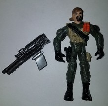 """Lanard CORPS 4"""" Action Figure Jointed Military 2003 Gun Lot - $10.65"""