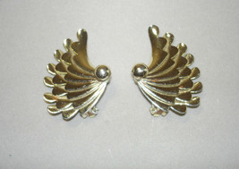 Vintage Silver Tone Large Clip On Earrings - $41.20