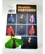 Simplicity 5927 Size S M L King Magician Devil Vampire Cape Costume Uncut - $9.99