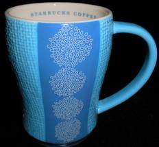 2007 Starbucks BLUE/WHITE DESIGN 12 oz HANDLED MUG - $17.81