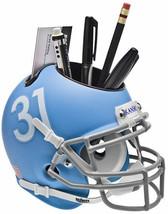 Kansas Jayhawks (Matte Blue) NCAA Football TB Schutt Mini Helmet Desk Caddy - $21.95