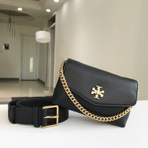 Tory Burch KIRA MIXED-MATERIALS BELT BAG Black - $255.00
