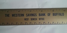 THE WESTERN SAVINGS BANK OF BUFFALO (NY) ~ WEST SENECA ~VINTAGE METAL 12... - $5.93