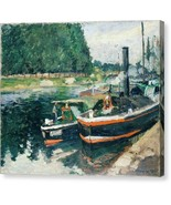 Barges at Pontoise 1876 Camille Pissarro - Ready to Hang - $91.63+