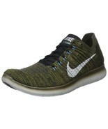 Men's Nike Free RN Flyknit Running Shoes, 831069 301 Sizes 8.5-13 Khaki/... - $119.95