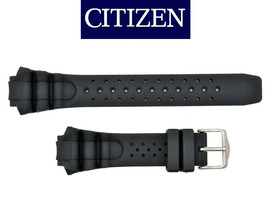 Genuine CITIZEN 59-G0243 Watch Band Strap Replacement 16mm Black Rubber  - $49.95