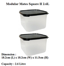 Tupperware Modular Mates Square II (Set of 2) Black  - $37.39