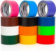 Multi Colored Duct Tape - Variety Pack -12 Colors - 10 Yards X 2 Inch Rolls - £19.72 GBP