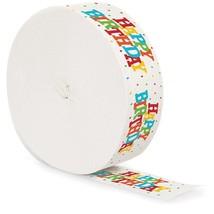 Happy Birthday Crepe Streamer 30 Ft - $3.13