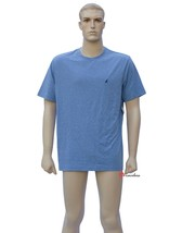 Nautica Mens Sleepwear PJ Pajama Shirt Light Blue Short Sleeve Cotton Me... - $12.00