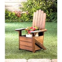 Wooden Adirondack Chair Planter - $33.00
