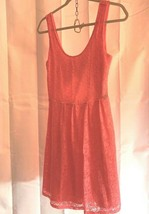Guess Womens Sz S Salmon Lace Overlay Dress Tank Above Knee - $18.29