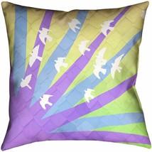 Katelyn Smith Throw Pillow Cover Case Only Birds & Sun Ombre 20x20 NEW - $16.98