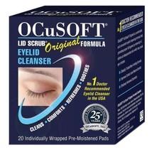 Ocusoft Original Lid Scrub Blepharitis **20 Cleansing Wipes** Free P&P - $10.97