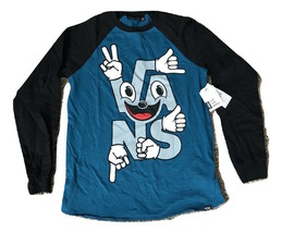 Vans Boys Handled Raglan Shirt Long Sleeve Medium M Black Teal - $24.95