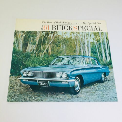 Vtg 1961 Buick Special Deluxe Sedan Station Wagon car auto Catalog Brochure - $10.65