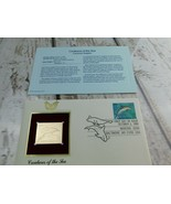 Common Dolphin 22kt Golden Replica Stamp 1990 First Day Stamp  - $19.79