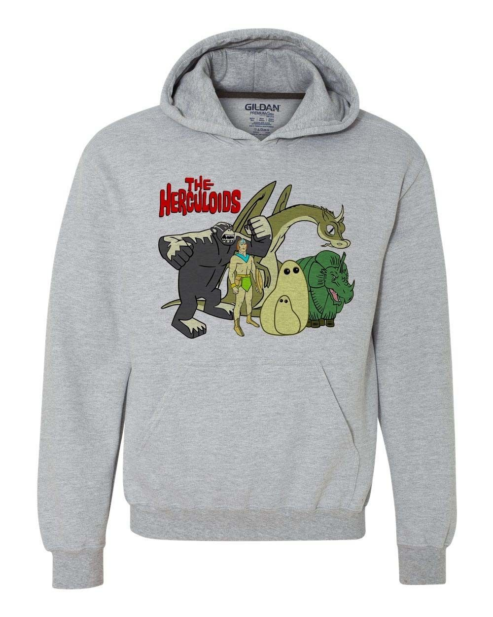 The Herculoids hoodie sweatshirt retro saturday morning cartoons 1970s 1980s