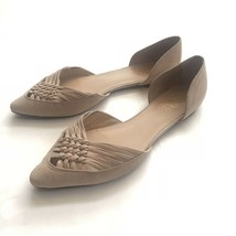 Franco Sarto Sariah D'orsay Ballet Flat 9 Nude Suede tan women shoes career - $29.65