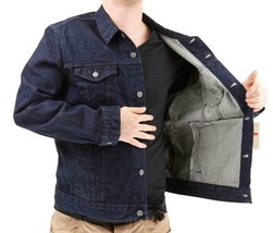 Levi's Men's Premium Cotton Button Up Denim Jeans Jacket Dark Blue 723350039 image 2