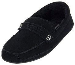 Dockers Men's Suede Moccasin Slippers Black Size L (10) - $53.07 CAD