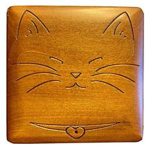 MilmaArtGift Peaceful Cat Box Handmade Linden Wood Decorative Box Made in Poland - $29.69