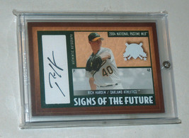 2004 Fleer rich harden oakland a's limited auto 5/52 national pastime - $9.18