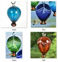 "80 Days Balloon Hummingbird Feeders Parasol Glass 4 Colors 6"" x 10"" 50oz... - $72.69"