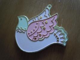 Vintage Hallmark Plastic Pink & White Dove Cookie Cutter - $5.99