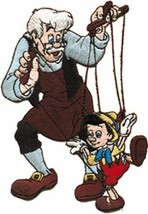 Walt Disney's Gepetto & Pinocchio as a Puppet Die-Cut Figures Patch, NEW... - $7.84
