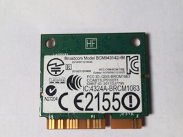 DELL DW1704 Wireless N Card Mini-Card R4GW0 Broadcom BCM943142HM BRCM1063 image 2